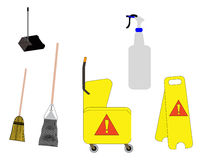 Janitorial tools Stock Photos