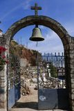 Janitzio, Мексика 5-ое декабря 2017: Кладбище c острова Janitzio Стоковое Изображение