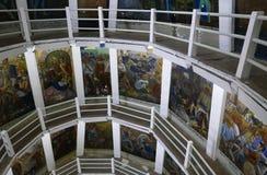Janitzio, México 5 de diciembre de 2017: Interior de la estatua de José MarÃa Morelos Foto de archivo libre de regalías