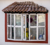Janitzio window. The rustic window of an old house in Janitzio, Mexico Royalty Free Stock Photo