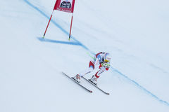 Janka Carlo in Audi FIS Alpien Ski World Cup - super-g van 3de MENSEN Royalty-vrije Stock Fotografie