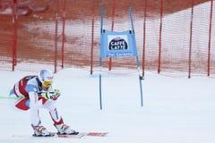 Janka Carlo in Audi FIS Alpien Ski World Cup - super-g van 3de MENSEN Royalty-vrije Stock Afbeelding