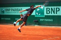 Janko Tipsarevic en Roland Garros 2012 Imagenes de archivo