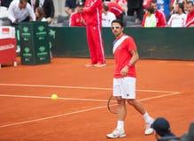 Janko Tipsarevic på Davis Cup, BELGRADE, SERBIEN JULI 16, 2016 Fotografering för Bildbyråer