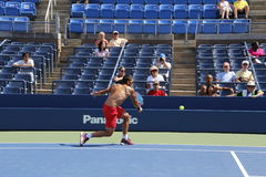 Janko Tipsarevic. Professional serbian tennis player Janko Tipsarevic during his practice session at the 2013 US open tennis tournament Royalty Free Stock Photography