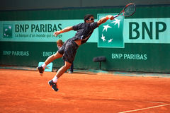 Janko Tipsarevic at Roland Garros 2012 Stock Images