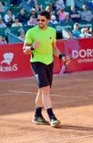 Janko Tipsarevic. (Serbia) during the tennis match he won against  Santiago Giraldo(Colombia) at BRD Nastase Tiriac Trophy, 25th april 2013, BNR Arenas Stock Images