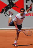 Janko Tipsarevic Tennis Player. 2012 World Team Cup. This photo shows Serb player and Davis Cup Team member Janko Tipsarevic during his Finals match against Royalty Free Stock Photo