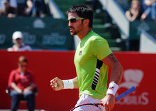 Janko Tipsarevic Tennis-Spielerreaktion Lizenzfreies Stockfoto