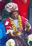 Jankri (Shaman, guérisseur de Nepali) Photographie stock libre de droits