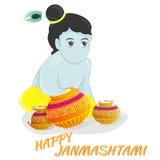Janmashtami feliz Imagenes de archivo