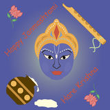 Janmashtami greeting card Stock Photo