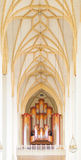 Jann organ and ceiling in Frauenkirche cathedral in Munich, Germ Royalty Free Stock Photo