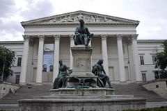 Janos Arany sculpture and National Museum,. Budapest, Hungary Stock Photography
