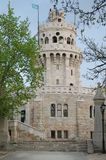 Janos hills look-out tower. Beautiful look-out tower on the top of Budapest Royalty Free Stock Photo