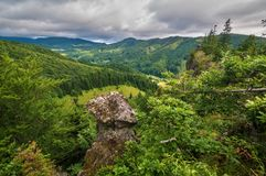 Janosikova skala. Overview from Janosikova skala rock at Polana protected landscape  area, Slovakia Stock Photography