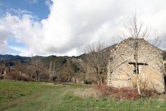 Janovas一个被放弃的村庄在韦斯卡省西班牙 库存图片