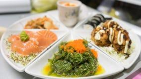 Janpanese food set  consist of seaweed Royalty Free Stock Images