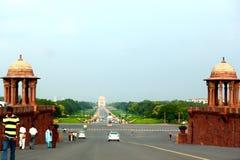 Janpath - Índia de Nova Deli Imagens de Stock