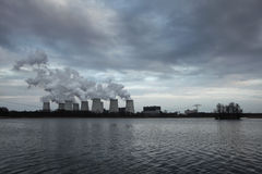 Janschwalde Power Station near Cottbus in Germany. Royalty Free Stock Photos
