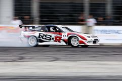 Jansen drifting during qualifying session Stock Images