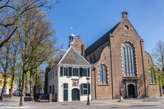 Janskerk church at a square in Utrecht Royalty Free Stock Images