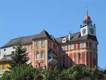 Jansky-Hügel-Schloss in Javornik-Stadt Stockfotografie