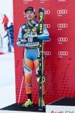 JANSRUD Kjetil (NOR). VAL GARDENA, ITALY 21 December 2013: JANSRUD Kjetil (NOR) takes 2nd place during the Audi FIS Alpine Ski World Cup Men's downhill Royalty Free Stock Photos