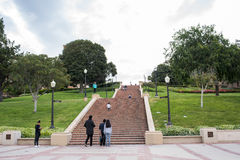 Janss Steps at UCLA. Los Angeles, CA: May 7, 2017: Janss Steps on the UCLA campus. UCLA is a public university in the Los Angeles area Stock Photography