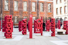 Blood Cancer Awareness Paternoster Square London, September 2017. royalty free stock photo