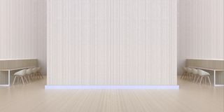 Jantando a barra indique mínimo limpam e a textura de madeira da parede - sala de estar luxuosa e café modernos Imagens de Stock