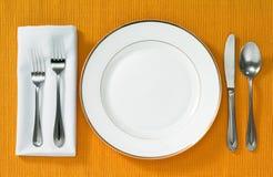 Jantando o ajuste Imagem de Stock Royalty Free