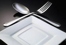Jantando o ajuste Imagem de Stock