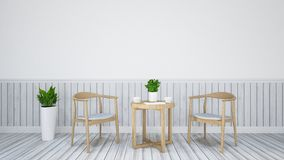 Jantando o grupo para o restaurante - ilustração 3D Fotografia de Stock Royalty Free