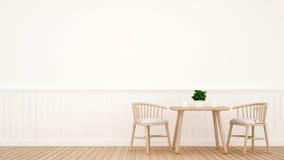 Jantando projeto de madeira ajustado - rendição 3D Foto de Stock Royalty Free