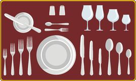 Jantando utensílios Fotografia de Stock