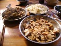 Jantar étnico chinês do marisco imagem de stock royalty free