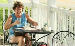 Jantar ao ar livre Fotografia de Stock Royalty Free
