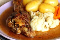 Jantar C da pata do cordeiro Imagem de Stock