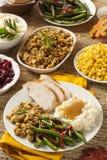 Jantar caseiro da ação de graças de Turquia Imagens de Stock Royalty Free