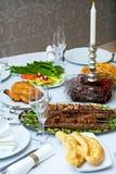 Jantar caucasiano Foto de Stock