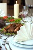 Jantar caucasiano Imagem de Stock