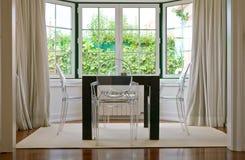 Jantar com opinião do jardim Imagem de Stock Royalty Free