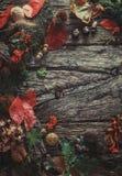Jantar da ação de graças na madeira Imagens de Stock Royalty Free