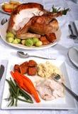 Jantar da acção de graças Fotografia de Stock Royalty Free