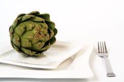 Jantar da alcachofra Fotos de Stock Royalty Free