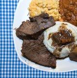 Jantar da carne assada Imagens de Stock Royalty Free