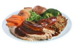 Jantar da carne de porco do assado Imagens de Stock