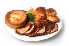 Jantar da carne do assado Imagens de Stock Royalty Free