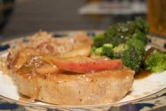 Jantar da costeleta de carne de porco Imagem de Stock Royalty Free